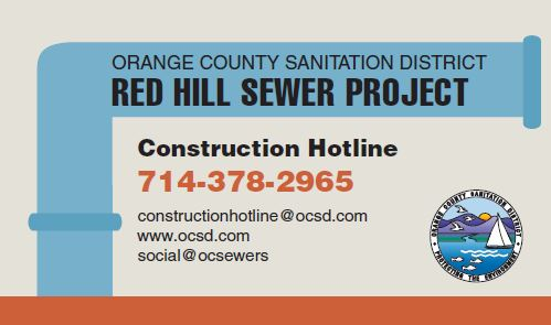 Red hill sewer improvements orange county sanitation district business card colourmoves