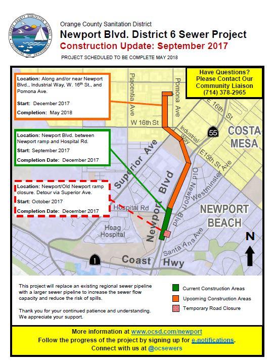 Ramp Closure on Newport Blvd  near PCH Starts in October