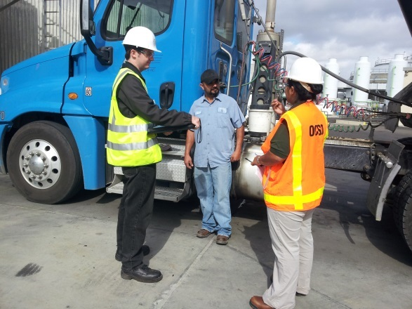 Biosolids inspector inspection hauler truck intern wastewater sanitation job orange county sewer
