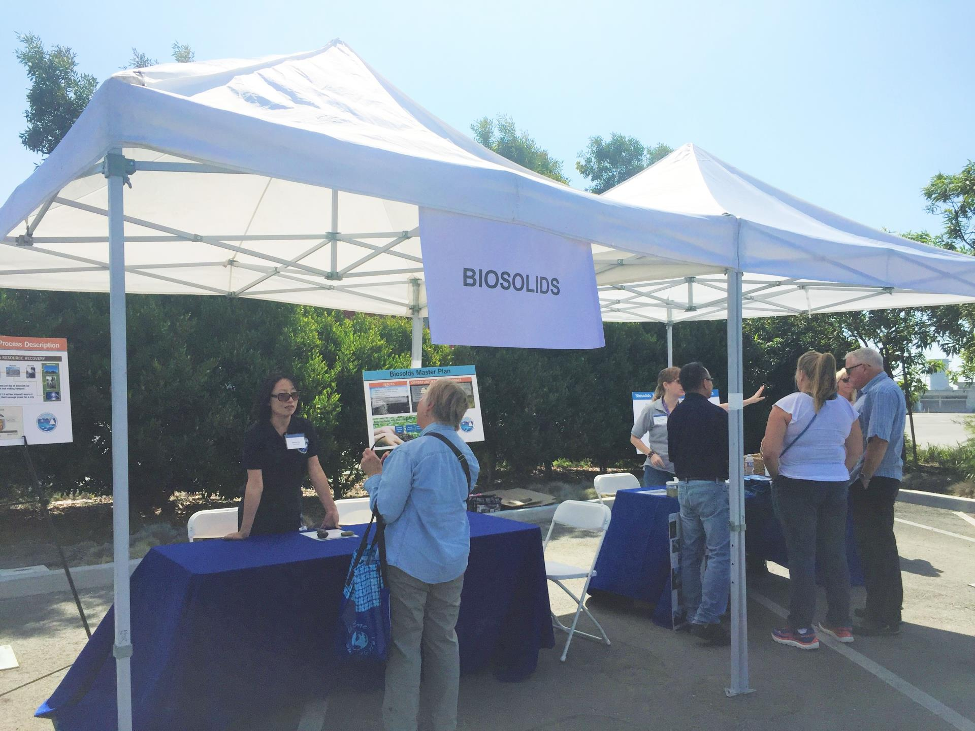 P2 master plan compost giveaway biosolids booth
