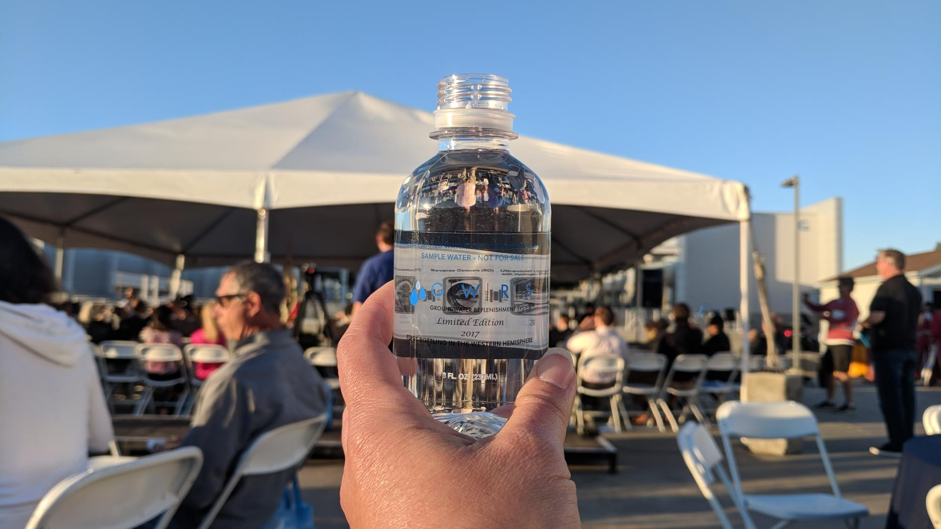GWRS Bottled Water with Event background